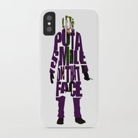 the joker iPhone & iPod Cases featuring Joker by A Deniz Akerman