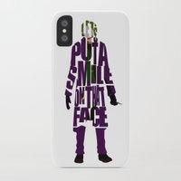 joker iPhone & iPod Cases featuring Joker by A Deniz Akerman
