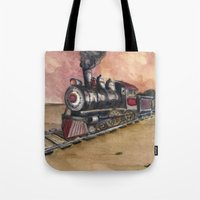 southwest Tote Bags featuring Southwest Journey by Jeff Moser Watercolorist