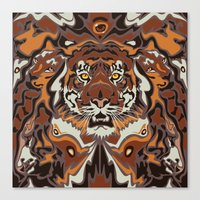 tigers Canvas Prints featuring Tigers by Darish