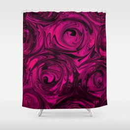 Berry Fuchsia Roses Shower Curtain