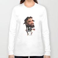 pirlo Long Sleeve T-shirts featuring Minirobguns Pirlo by Robin Gundersen