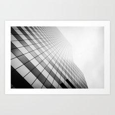 Grid Towards the Sky. Art Print