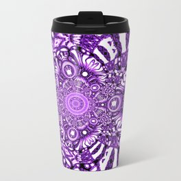 Precisely Abstract (Purple)  Travel Mug