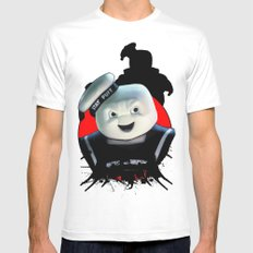 Stay Puft: Monster Madness Series White MEDIUM Mens Fitted Tee