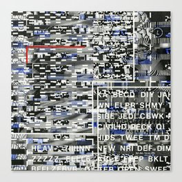 Activating the Intended and Unforeseen (P/D3 Glitch Collage Studies) Canvas Print