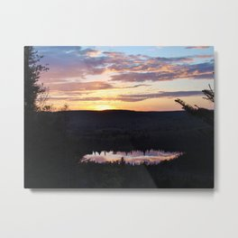 Sunset Hike #3 Oberg Metal Print