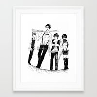levi Framed Art Prints featuring Squad Levi by PaigeAWArt