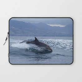 Wild and free bottlenose dolphin Laptop Sleeve