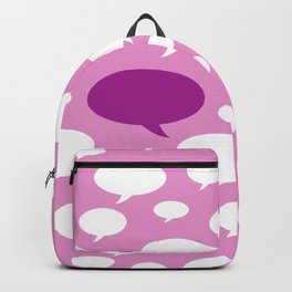 Cartoon design of dialog balloons Backpack