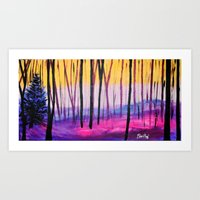 Vanilla Forest  Art Print