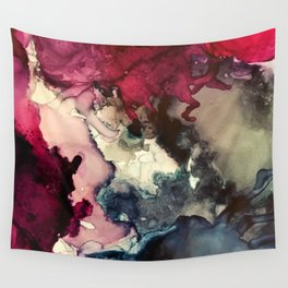 Dark Inks - Alcohol Ink Painting Wall Tapestry