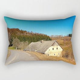 Traditional abandoned farmhouse | architectural photography Rectangular Pillow