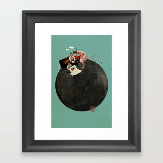Life on Earth | Collage Framed Art Print