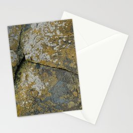Ancient Rocks with Lichen Texture Stationery Cards