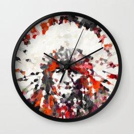 Modern Red Indian Chief - Sharon Cummings Wall Clock