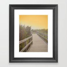 Boardwalk sunrise Framed Art Print