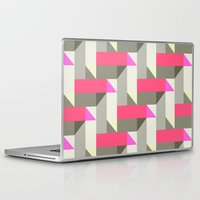 herringbone Laptop & iPad Skins featuring Herringbone geometric by Katy Clemmans