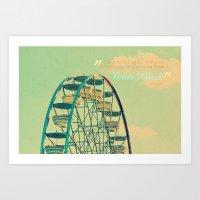 ferris wheel Art Prints featuring Ferris Wheel  by RDelean