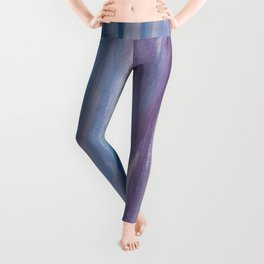 Touching Purple Blue Watercolor Abstract #2 #painting #decor #art #society6 Leggings