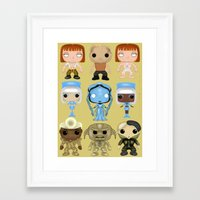 fifth element Framed Art Prints featuring The Fifth Element Customs by SpaceWaffle