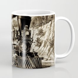 Vintage steam train illustration Coffee Mug