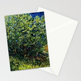 Lilac Bush by Vincent van Gogh Stationery Cards