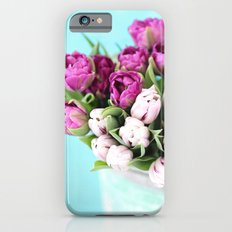 pink and purple tulips Slim Case iPhone 6s