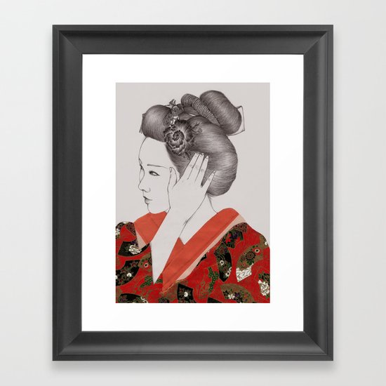 Paper Doll IV Framed Art Print