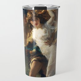 The Storm by Pierre-Auguste Cot 1880, French Travel Mug
