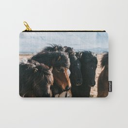 Horses in Iceland - Wildlife animals Carry-All Pouch