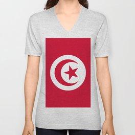 Tunisia flag emblem Unisex V-Neck