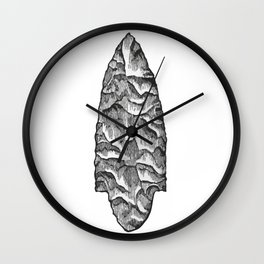 Stone spearhead Wall Clock