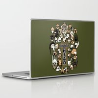 fandom Laptop & iPad Skins featuring Helmets of fandom - respect the head! by CaptainLaserBeam