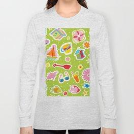 Summer Fun Green Long Sleeve T-shirt