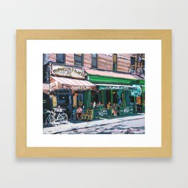 Falafel on MacDougal Framed Art Print