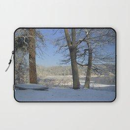 December Snow Delaware River View Laptop Sleeve