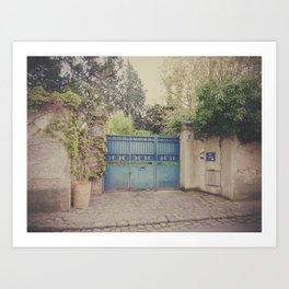 The blue garden. Art Print