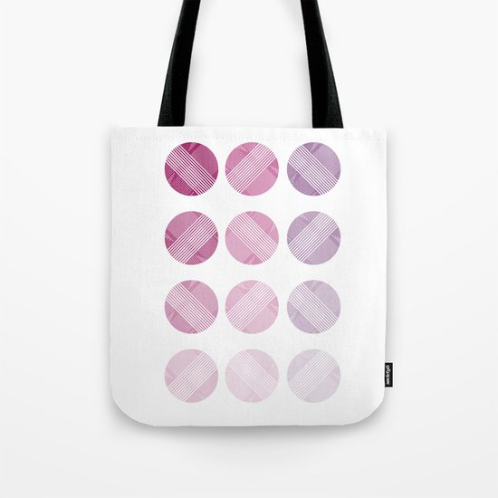 Line Round Tote Bag