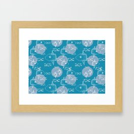 Mola Mola Blue-Ocean sunfish Framed Art Print