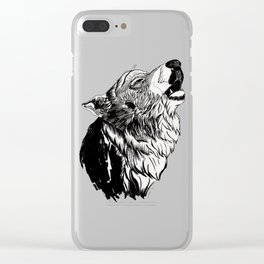 Graphic Wolf Clear iPhone Case