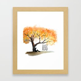 Just read Tree Theme Framed Art Print