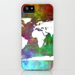 WORLD MAP #society6 iPhone Case