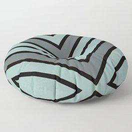Chevron Shades of Gray & Black Floor Pillow
