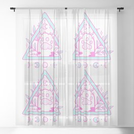 Witchy Cat Paw 02 Sheer Curtain