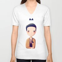 dale cooper V-neck T-shirts featuring Dale by Nan Lawson