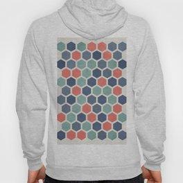Honeycomb Geometrics, Vintage, Throw-Pillows, Art-Prints Hoody
