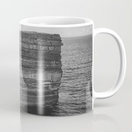 Dun Briste II Black and White Coffee Mug
