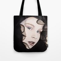 ying yang Tote Bags featuring Ying Yang by Claire Azzopardi
