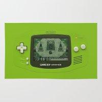 gengar Area & Throw Rugs featuring Gameboy Zelda Link by Electra
